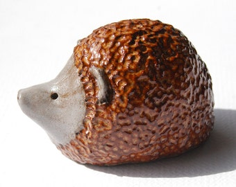 Ceramic sculpture Hedgehog figures, woodland animal palm sized