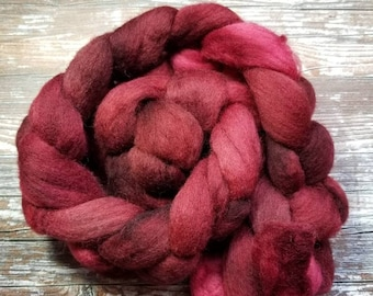 Spinning fiber corriedale combed top 100g hand dyed indie dyed spinning  felting fiber  combed top