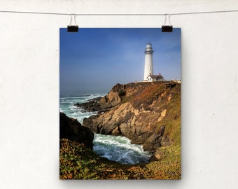 Seascape Photography, Pigeon Point Lighthouse Photo Print, California