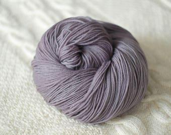 Hand Dyed Superwash Merino Wool  4 ply smokey grey yarn sock wool Colorway: pink 100g (3.5 oz)
