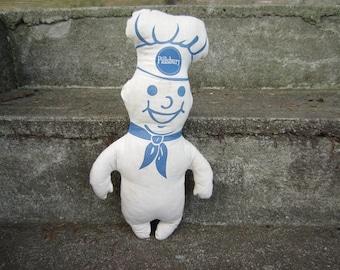 Vintage Pillsbury Dough Boy Doll Advertising Doll Stuffed