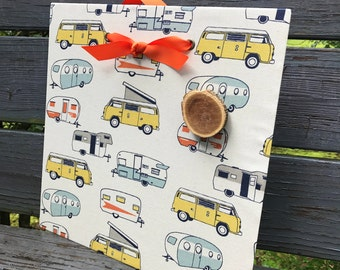 Happy Camper - Magnetic Board - Message Board - Summer Bucket List - Magnet Board - Bulletin Board, Camper Organizer - Camper Gift Idea