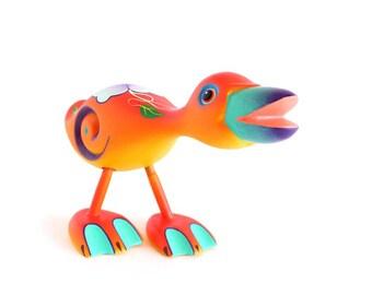 Wooden Orange Duck