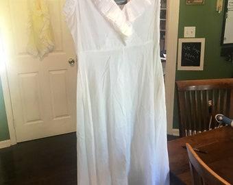 White cotton dress, beach dress,
