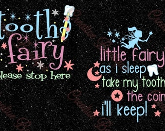 Tooth Fairy please stop here as I sleep take my teeth SVG Cutting File Cricut Silhouette pillow sign teeth wand moon stars night goodnight