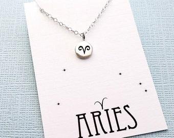 Aries Jewelry   Tiny Aries Necklace, Zodiac Jewelry, Zodiac Necklace, Celestial Jewelry, Astrology Jewelry, Zodiac Sign Necklace, Zodiac