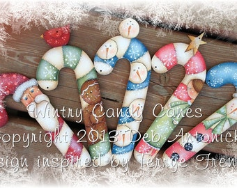 Winter Candy Canes by Deb Antonick, E-Pattern