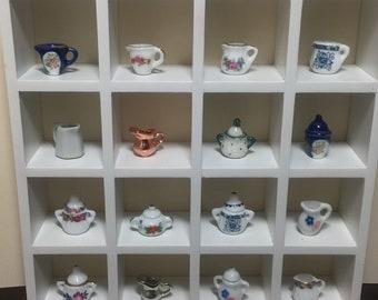 1:12 Scale Dollhouse Miniature Serving Items (sugar jars, decorative jars, milk pitchers)