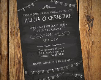 Engagement Party Invitations - Chalkboard