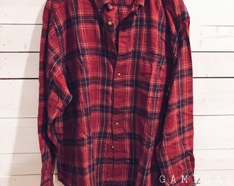 Vintage Red Flannel XL