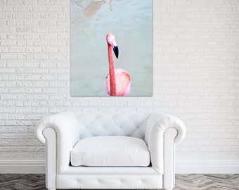 Captivating Flamingo Canvas Art Coral Bathroom Decor Pink Wall Art Flamingo Nursery  Large Wall Art Bird Photography