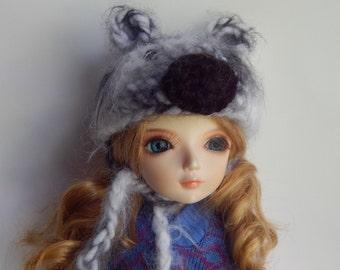 BJD Bear Hat, Msd Bear Hat, YoSD Bear Hat, Doll Bear Hat, Amigurumi Bear Hat, Bjd Halloween Costume, BJD Hat with Ears, Crocheted BJD Hat