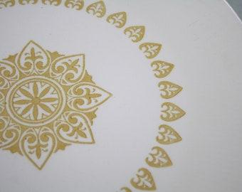 4 Serenade  Gold Dinner Plates Set