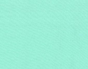 Moda Fabric Bella Solids AQUA- 1 yard  31 inches End of Bolt yard  Sku 9900 34