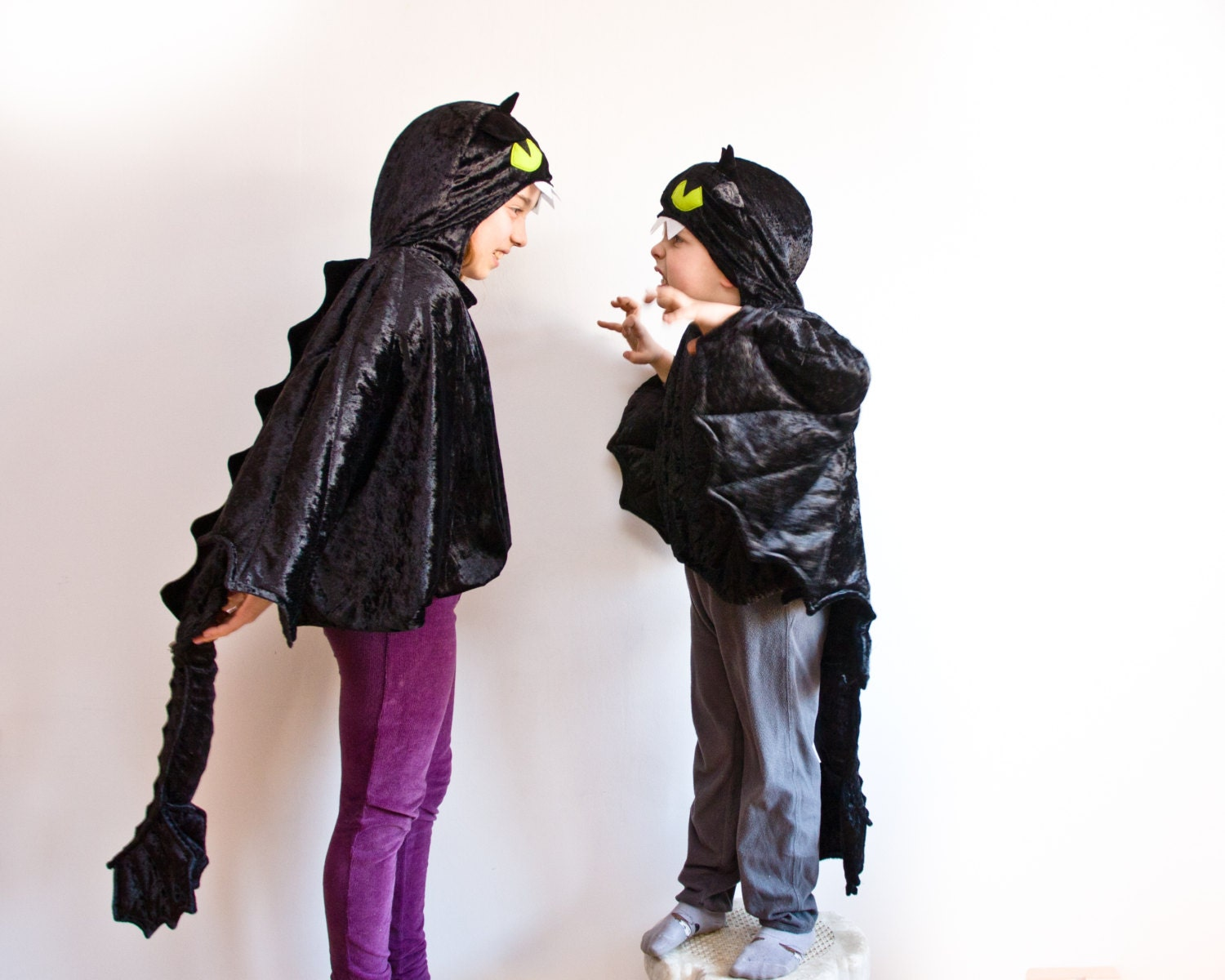 Black dragon children costume party costume or halloween kid zoom ccuart Choice Image