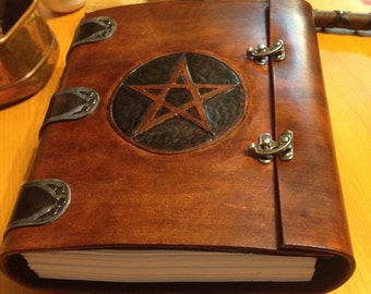 Custom Leather Refillable Book of Shadows
