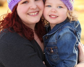 Mommy and Me Hat Set - Mother Daughter Hats - Matching Hats - Baby Shower Gifts - Christmas Gift Set