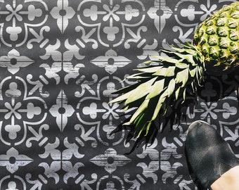 Vicenta - Spanish Tile Stencil - Universal Reusable Stencil