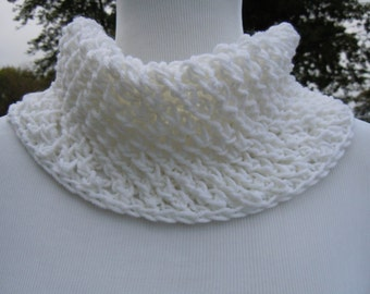 Circle Cowl Scarf, Chunky knit white scarf, Neck warmer, , Knitting, Accessories, Fashion, Winter,
