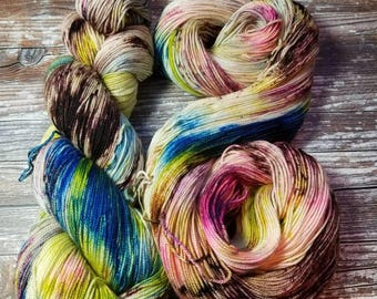 Hand dyed superwash merino silk cashmere Hand dyed yarn indie dyed yarn