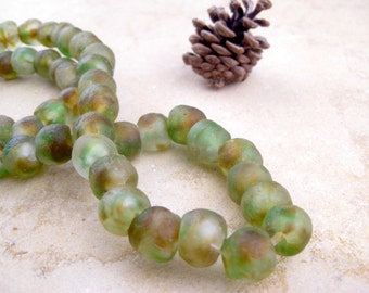 Fused Recycled Glass Beads: World's Most Eco-Friendly Beads! Ghana Beads - African Beads - Wholesale Glass Beads - Made of Bottles 523