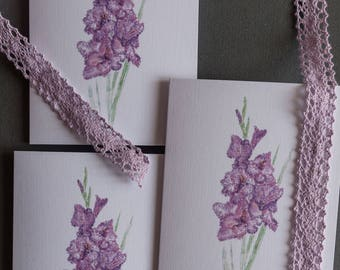 Gladiolus open/close greeting card