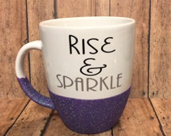Rise & Sparkle Glitter Coffee Cup