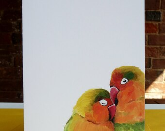 Lovebirds Note Card