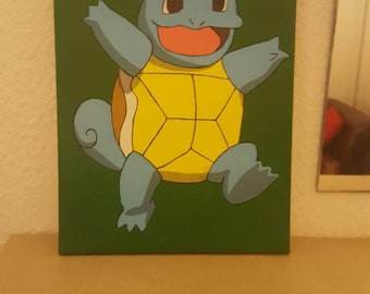 Hand Painted Squirtle Pokemon Canvas