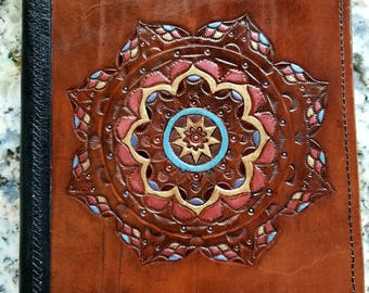 Tooled Leather Mandala Journal
