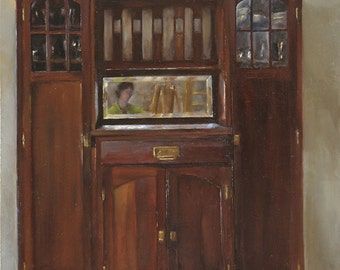 Self Portrait with Armoire