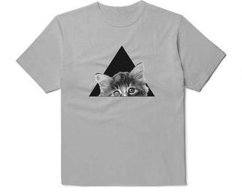 Tumblr Shirt Cat Shirt Minimalist Shirt Cat Tshirt Cat Svg Triangle Shirt Animal Shirt Cat Lover Gift Perfect Gift Cat Face Shirt BP1036