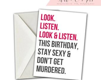 My Favorite Murder Card, My Favorite Murder Birthday Card, Stay Sexy Don't Get Murdered, My Favorite Murder, SSDGM