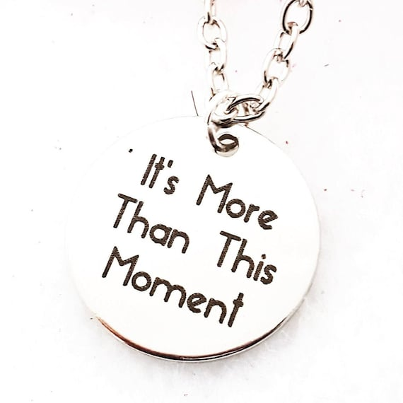 Fitness CrossFit Gifts, Triathlon Marathon Runner Jewelry, It's More Than This Moment Necklace, Inspirational Motivational Team Gifts Quotes