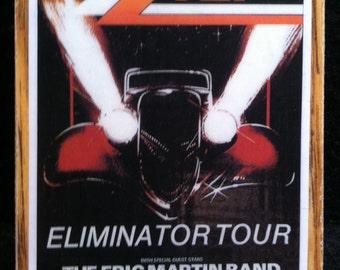 ZZ Top Tour Poster Magnet 1984