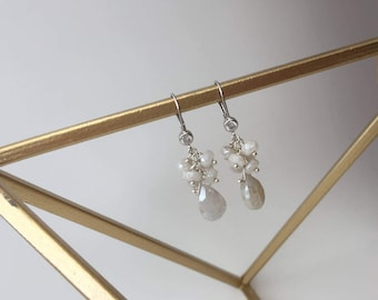 Vogue Collection's Gem Cluster Drop Earrings