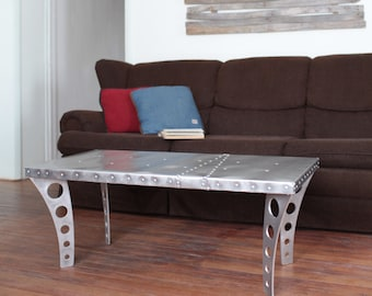 Aviation Themed Furniture. Aviation Themed Furniture. Brushed Finish Jetset  Coffee Table + Aluminum |