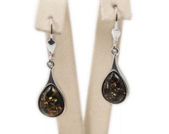 """Silver amber earrings """"Childhood Lollipops"""""""