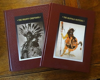 Set Time Life Books Native American -Mighty Chieftains, The Buffalo Hunters