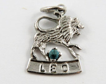 Lion for the Zodiac Sign Leo Sterling Silver Charm or Pendant.