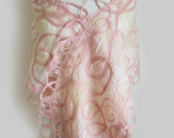 Pink Blush Silk Stole - Special Occasion Wrap - Large Silk Scarf