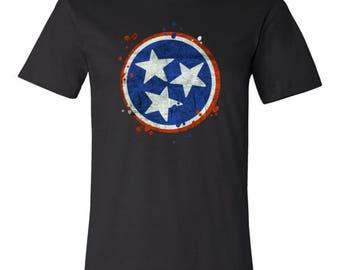 Tennessee State Vintage Grunge Flag U.S T-Shirt
