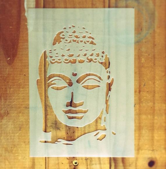 Buddha STENCIL for home wall interior decor / reusable religious ...
