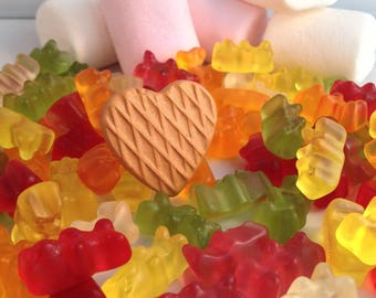 Fimo heart cookie ring