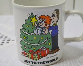 Vintage Marvin Christmas Mug Tom Armstrong Joy To The World Red White Green PanchosPorch