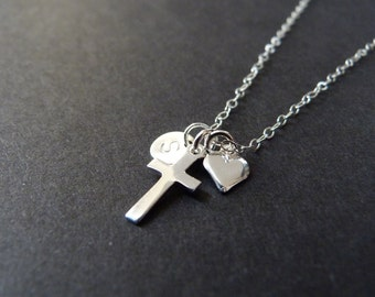 First communion necklace, personalized adult baptism gifts
