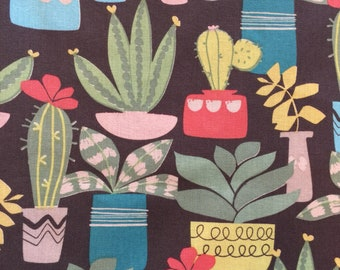 FQ Cactus  Succulants  Print Fabric  100% Cotton Fat Quarter