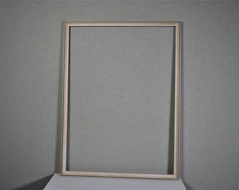 17x23 Frame Vintage White Wood with Optional Custom Cut Matting