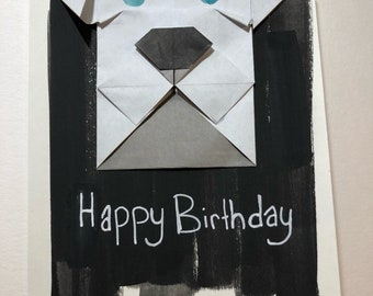 Origamy birthday card