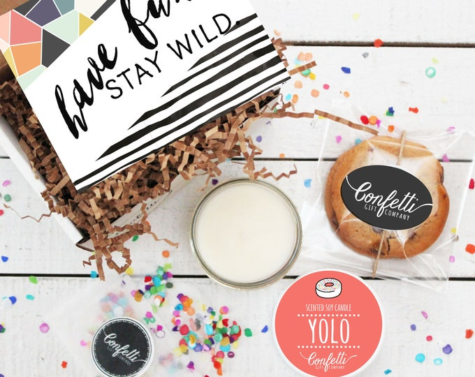 Mini Have Fun, Stay Wild Gift Box - Congratulatins Gift | Celebration Gift | Birthday Gift | Friend Gift | Long Distance Gift | BFF Gift